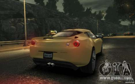 Lotus Evora 2009 for GTA 4 right view
