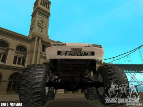 Elegy Monster for GTA San Andreas inner view