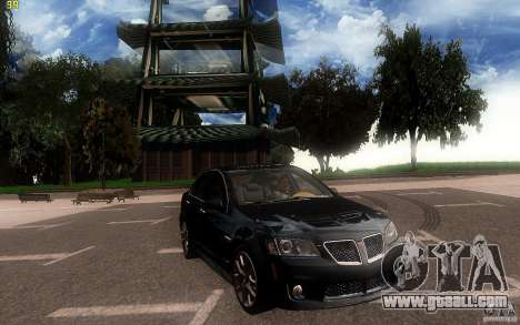 Pontiac G8 GXP 2009 for GTA San Andreas inner view