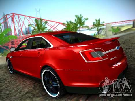 Ford Taurus SHO 2011 for GTA San Andreas left view