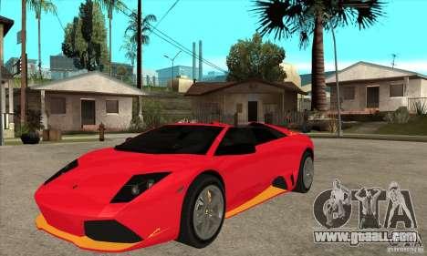 Lamborghini Murcielago LP650 for GTA San Andreas