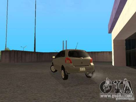 Toyota Yaris Sport 2008 for GTA San Andreas back left view