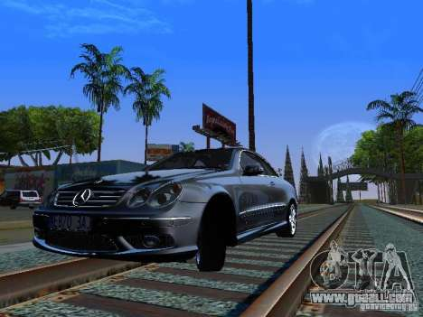 Mercedes-Benz CLK55 AMG for GTA San Andreas back left view