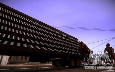 Box Trailer for GTA San Andreas back left view
