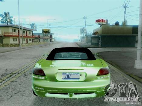 Dodge Viper SRT-10 Roadster for GTA San Andreas back left view