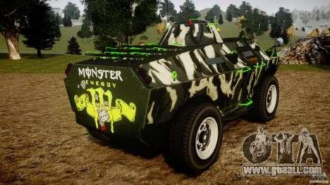 Monster APC for GTA 4 back left view