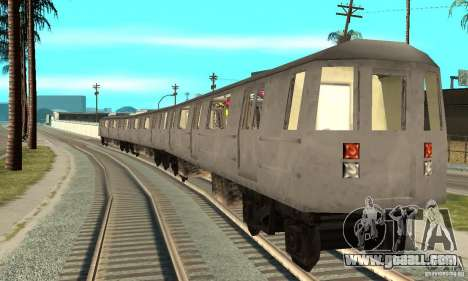 Liberty City Train GTA3 for GTA San Andreas back left view