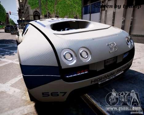 Bugatti Veryon SS COP for GTA 4 left view