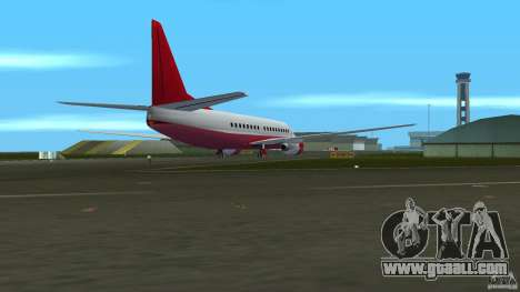 Boeing 737 for GTA Vice City back left view