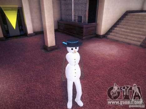 Snowman for GTA San Andreas