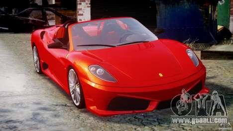 Ferrari F430 Scuderia Spider for GTA 4 inner view