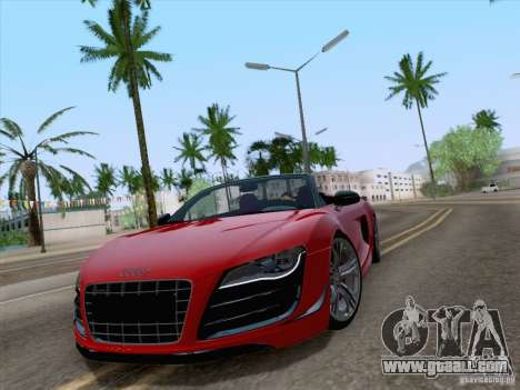 Audi R8 GT Spyder for GTA San Andreas