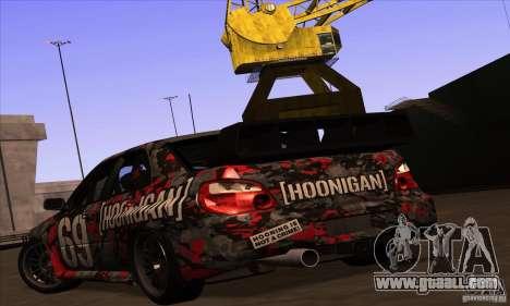 Subaru Impreza WRX STi Gymkhana for GTA San Andreas interior