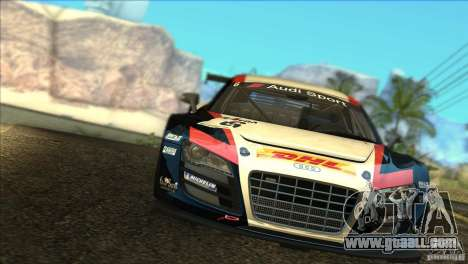 Audi R8 LMS for GTA San Andreas side view