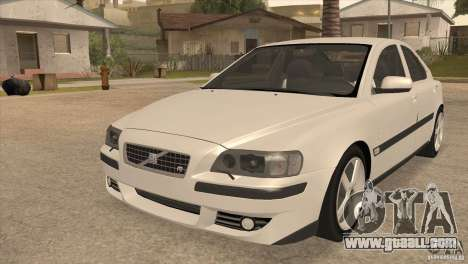 Volvo S60R for GTA San Andreas inner view