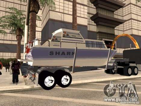 Boat Trailer for GTA San Andreas back left view