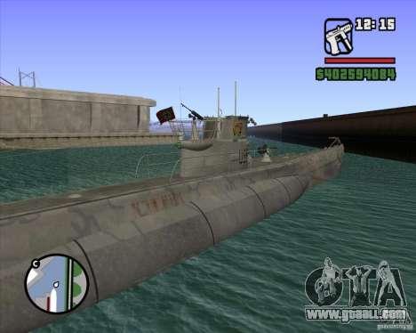 u99 german submarine for gta san andreas