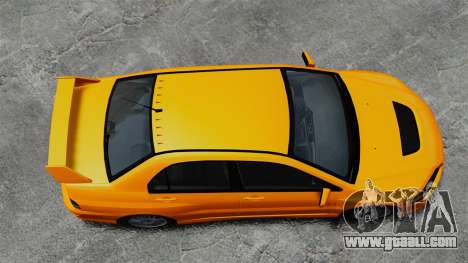 Mitsubishi Lancer Evolution IX MR for GTA 4 right view