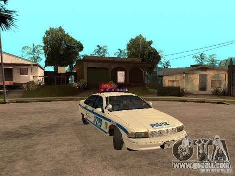 NYPD Chevrolet Caprice Marked Cruiser for GTA San Andreas back view