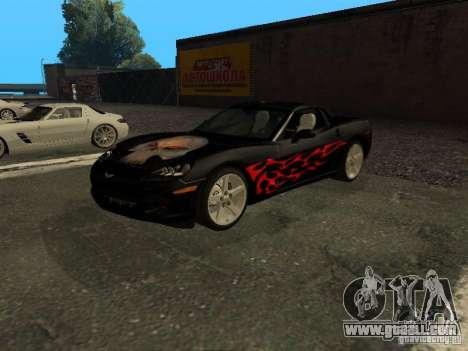 Chevrolet Corvette C6 for GTA San Andreas inner view