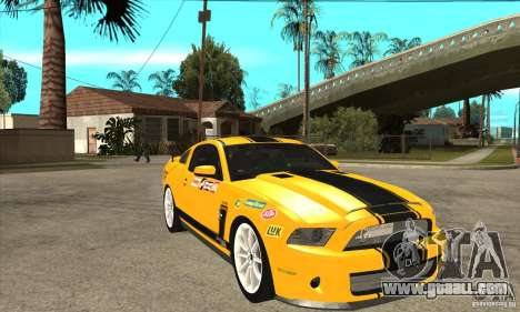 Ford Shelby GT500 Supersnake 2010 for GTA San Andreas back view