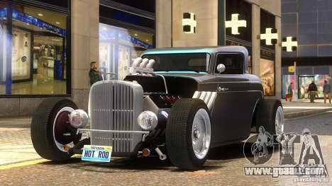 Custom Hot Rod 1933 for GTA 4 back left view