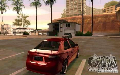 Toyota Vios for GTA San Andreas left view