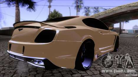 Bentley Continental GT Premier 2008 V2.0 for GTA San Andreas inner view