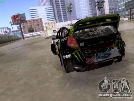 Ken Block Ford Fiesta 2012 for GTA San Andreas inner view