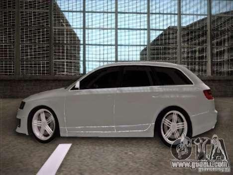 Audi RS6 Avant for GTA San Andreas left view