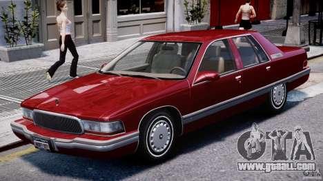 Buick Roadmaster Sedan 1996 v 2.0 for GTA 4 left view