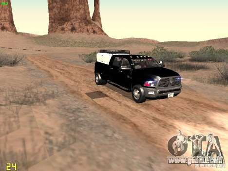 Dodge Ram 3500 Unmarked for GTA San Andreas inner view