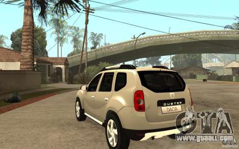 Dacia Duster 2010 SUV 4x4 for GTA San Andreas back left view