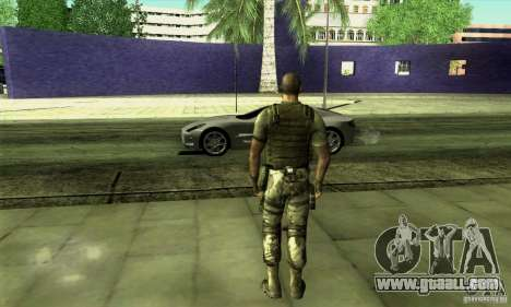 Sam Fisher Army SCDA for GTA San Andreas second screenshot
