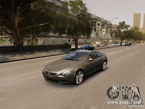 BMW M6 2010 for GTA 4 bottom view