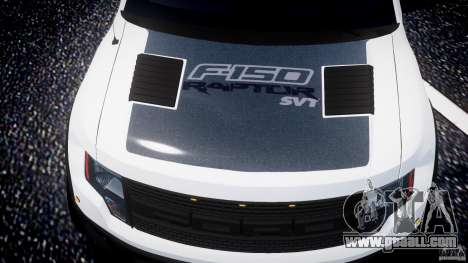 Ford F150 SVT Raptor 2011 for GTA 4 wheels
