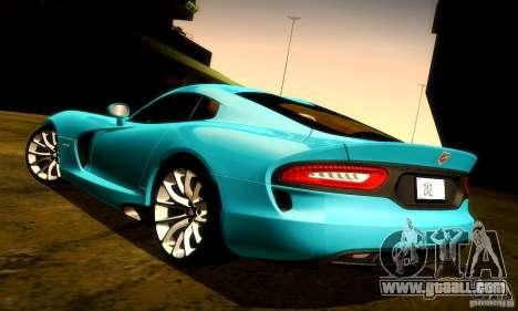 Dodge Viper SRT  GTS for GTA San Andreas engine
