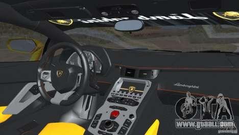 Lamborghini Aventador LP700-4 2012 for GTA San Andreas back view