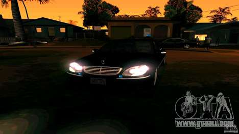 Mercedes S500 for GTA San Andreas back view