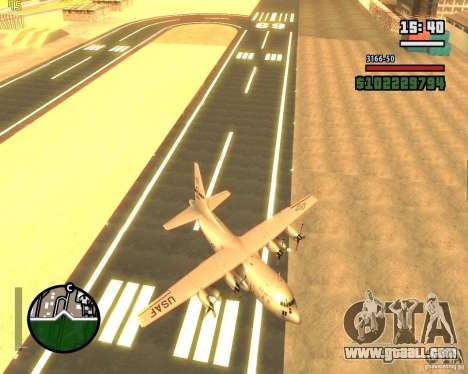 C-130 hercules for GTA San Andreas side view