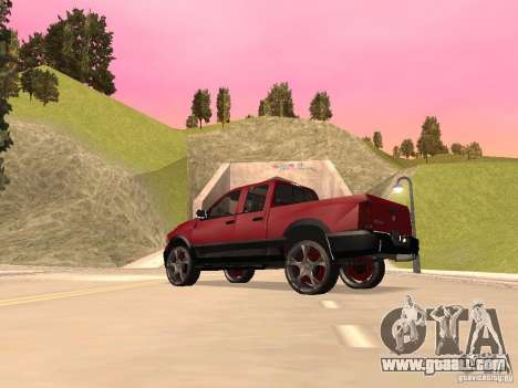 Dodge Ram 2010 for GTA San Andreas back left view