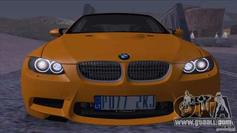 BMW M3 E92 for GTA San Andreas inner view