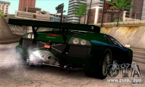 Lamborghini Murcielago R-SV GT1 for GTA San Andreas interior