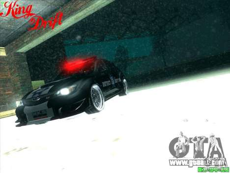 Subaru Impreza WRX Police for GTA San Andreas bottom view