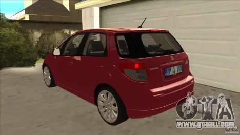 Suzuki Sx4 - Stock for GTA San Andreas back left view