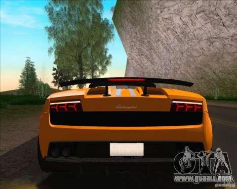 Lamborghini Gallardo LP570-4 Spyder Performante for GTA San Andreas back view