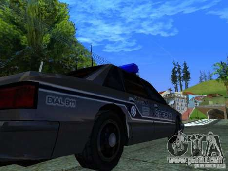 Lumpkin Country Sheriffs Office for GTA San Andreas back view