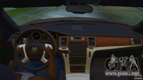 Cadillac Escalade ESV 2012 for GTA San Andreas back view