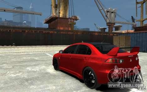 Mitsubishi Lancer Evo X v.1.0 for GTA 4 back left view