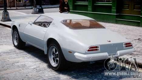 Pontiac Firebird Esprit 1971 for GTA 4 right view